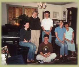 Master class participants: from left - Rachel Voldman, Betty Greenhoe, Matthew McIntyre, Melody Puller, Norine Grant, Andrew Huckins Noss (seated front)