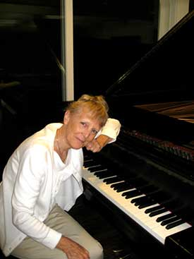 Elaine at the piano